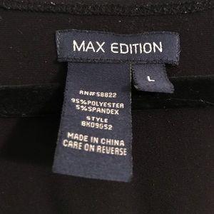 MAX edition Black V-neck Dress